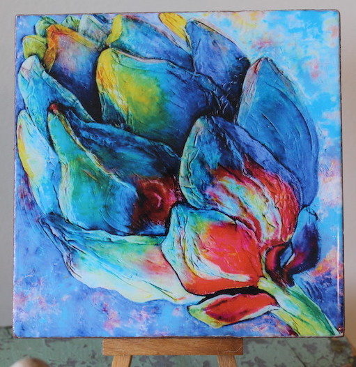 """""""Fuchsia Artichoke"""" Art Tiles – Great gifts for all occasions!"""