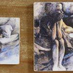 """""""The Female Thinkert"""" Art Tiles"""