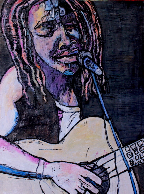 "Beautiful Painting of ""Tracy Chapman"" An Amalee Original"