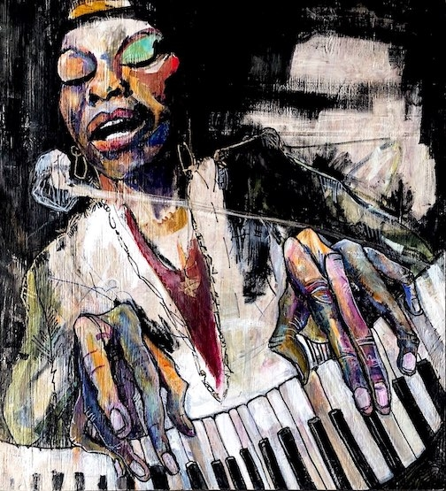 Painting of Nina Simone captures the sole of her greatness